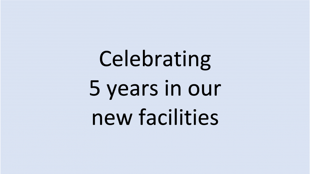 Celebrating 5 years in our new facilities