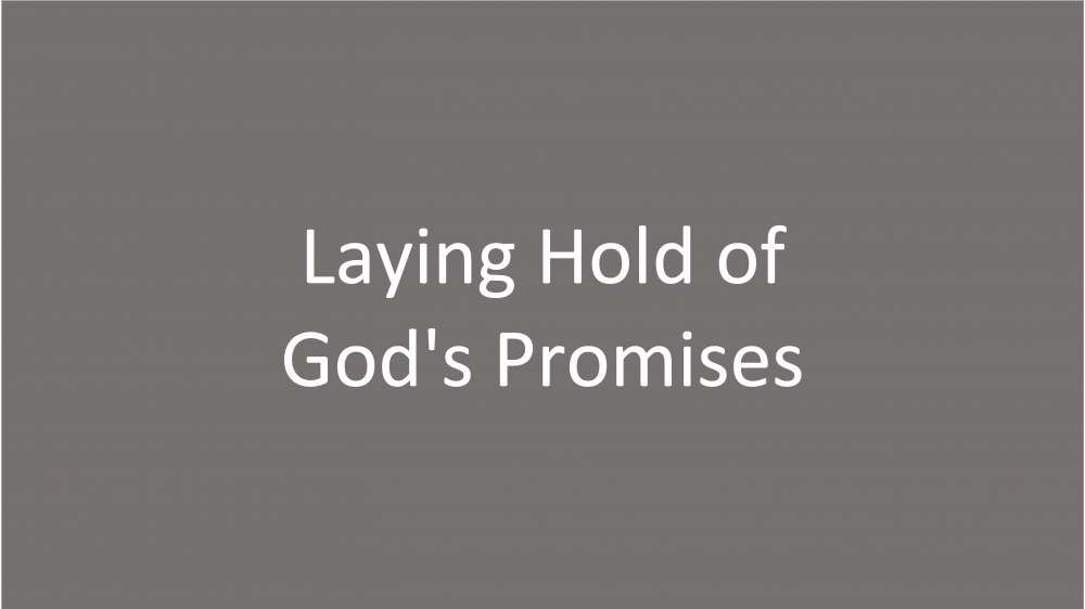 Laying Hold of God\'s Promises